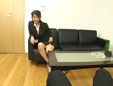 Alluring Rei gets her twat pounded in the office