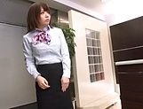 Office woman enjoys a tenacious pussy licking picture 14