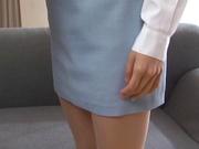 Helpful Japanese office lady sucks cock swallows jizz