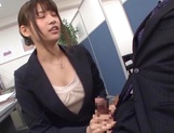 Kinky office lady banged on the table picture 13