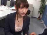 Kinky office lady banged on the table picture 14