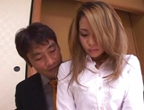 Sexy Misa ready to suck boss huge cock picture 11