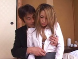 Sexy Misa ready to suck boss huge cock picture 14