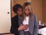 Sexy Misa ready to suck boss huge cock