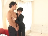 Petite sexy office lady Aino Kishi is happy to ride big cock