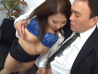 Sassy Asian milf sucking one large stiff dong
