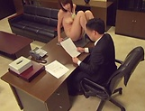 On the office desk babe gets nailed good