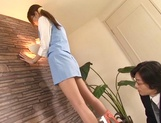Hot leggy office secretary gets fucked doggie fashion picture 3