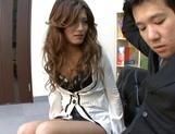 Pretty coquette Aki Asada in a wild office fuck picture 15