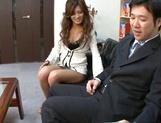 Pretty coquette Aki Asada in a wild office fuck