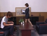 Skinny office lady Akari Asahina gets her boobs teased and pussy banged picture 12