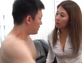 Superb office sex involving hot japanese babe picture 12