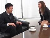 Superb office sex involving hot japanese babe