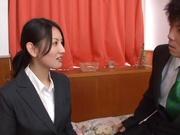 Elegant Japanese office lady Takako Kitahara enjoys hardcore copulation