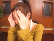 Office babe gets naked and starts fucking her boss