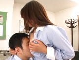 Sexy Asian teacher blows cock and enjoys hardcore sex picture 14