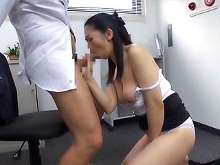 Sexy office girl giving some superb head