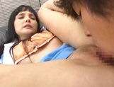 Lovely office chick enjoys oral stimulation and hardcore pussy fuck picture 14