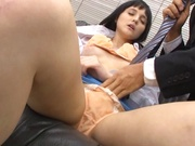 Lovely office chick enjoys oral stimulation and hardcore pussy fuck