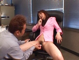 Sexy office lady, Maria Fujisawa, in fancy pink costume gets banged picture 11