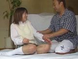 Alluring Japanese schoolgirl is amazing when she fucks picture 11