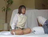Alluring Japanese schoolgirl is amazing when she fucks picture 2