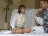 Alluring Japanese schoolgirl is amazing when she fucks picture 3
