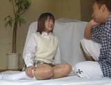 Alluring Japanese schoolgirl is amazing when she fucks picture 5