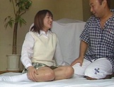 Alluring Japanese schoolgirl is amazing when she fucks picture 7