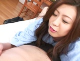 Hot Riko banged hard in amazing gangbang picture 13