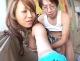 Cute Misaki has her glory hole nailed