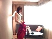 Akiho Yoshizawa; amazing Asian fuck in a hotel room
