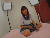 Unsatisfied Japanese schoolgirl with big tits Ami Asabuki gets banged picture 1