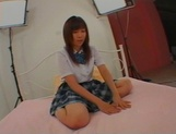 Unsatisfied Japanese schoolgirl with big tits Ami Asabuki gets banged picture 3