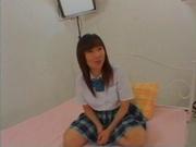 Unsatisfied Japanese schoolgirl with big tits Ami Asabuki gets banged