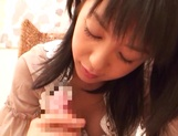 Japanese milf Nana Nanami gets filmed while sucking and fucking picture 46