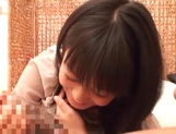 Japanese milf Nana Nanami gets filmed while sucking and fucking picture 54