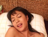 Japanese milf Nana Nanami gets filmed while sucking and fucking picture 92