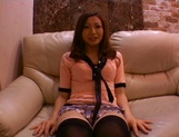 Emi Harukaze naughty Asian milf masturbated and gets pov porn shot picture 1