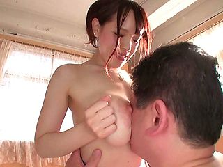 Big tit race queen Koyomi Yukihira makes her guy cum without fucking