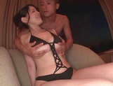 Busty babe Koyomi Yukihira in bikini and heels gets her tits toyed and fucked picture 7