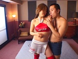 Busty hottie Miho Ichijo screams with a big cock inside