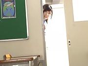 Beautiful teen Harukawa Sesera gets a creamy facial