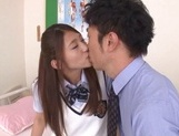 Curious Japanese college teen Sarii Aisahara experiences cock riding picture 11