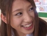 Curious Japanese college teen Sarii Aisahara experiences cock riding picture 14