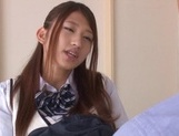 Curious Japanese college teen Sarii Aisahara experiences cock riding picture 1