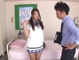 Curious Japanese college teen Sarii Aisahara experiences cock riding picture 3