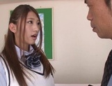 Curious Japanese college teen Sarii Aisahara experiences cock riding picture 5