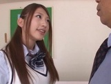 Curious Japanese college teen Sarii Aisahara experiences cock riding picture 6