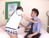 Curious Japanese college teen Sarii Aisahara experiences cock riding picture 7